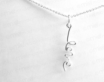 Tiny Love Necklace - Love - Sterling Silver - 925 - Love Jewelry - Silver - Christian Jewelry - Cross Jewelry - Faith Jewelry - Christian