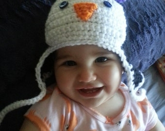 Cute Penguin Baby Hats - MADE TO ORDER - Handmade By Me