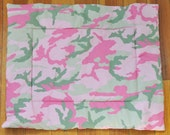 100% Charity Item- Pink and Green Camouflage Cat Mat