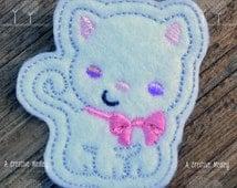Kitty  felt feltie Embroidery design - instant download