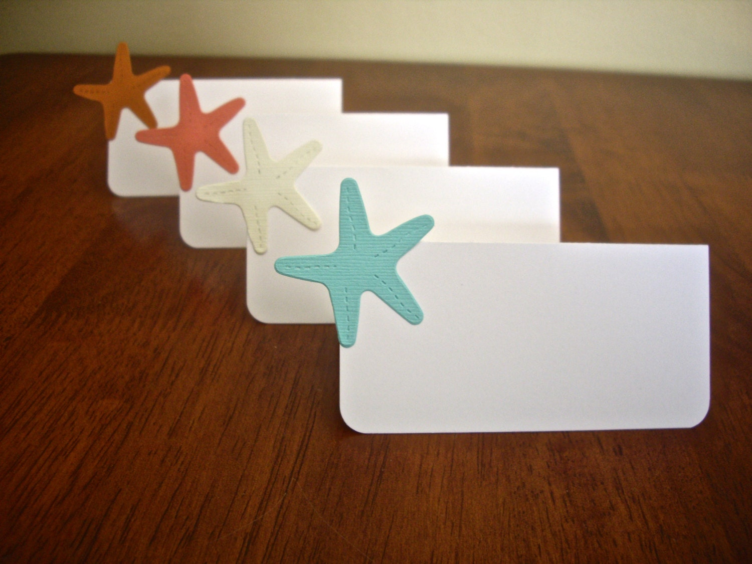 Beach Theme Place Cards Star Fish Place Cardwedding Place