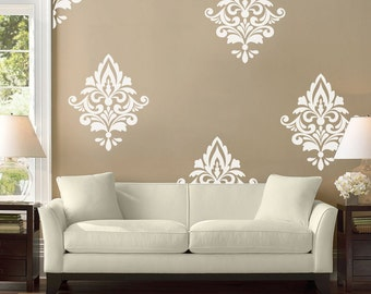 Big Damask, Wall Decal, Home Decor, Damask Pattern, Living Room Decals, Part 98