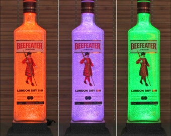 Beefeater London Gin Color Changing LED Remote Control Bottle Lamp -Bodacious Bottles-