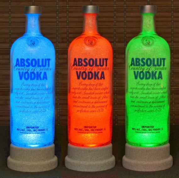 absolut vodka color changing led bottle lamp von. Black Bedroom Furniture Sets. Home Design Ideas