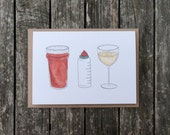 Beer, Bottle and Wine New Baby card