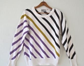 Vintage 1980s Striped Sweater