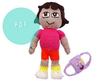 Knitting Pattern For Dora The Explorer Doll : DORA THE EXPLORER TOY KNITTING PATTERN   KNITTING PATTERN