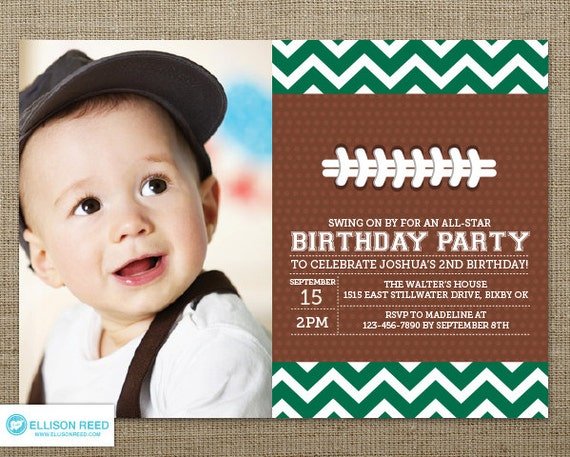 items similar to football invitation  first birthday invitation, Birthday invitations