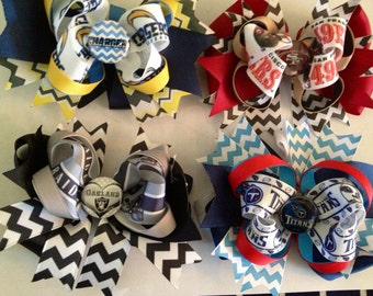 NFL Team Custom Hairbows - You pick your team