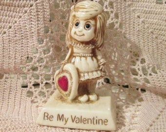 1970's Be My Valentine Statue by W.&R. Berries, Co.