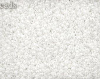 15/0 TOHO seed beads 10g Toho beads 15/0 seed beads Opaque Lustered White 15-121 White seed beads