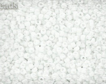 15/0 TOHO seed beads 10g Toho beads 15/0 seed beads White Opaque 15-41F Frosted Matte beads White seed beads