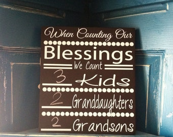 Counting Blessings Grandchildren sign
