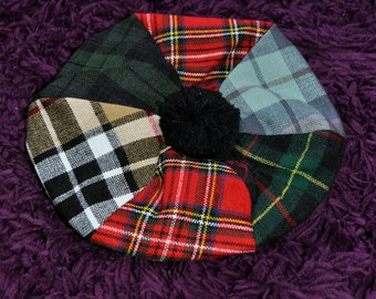 Adults Tammy Hat. Made from various tartans. One size