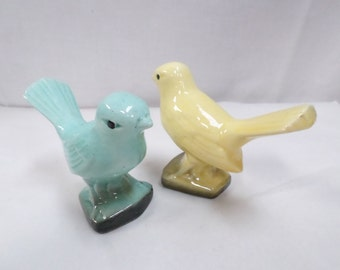 Art Deco Desvres Birds Faience couple of birds signed GF (Gabriel Fourmaintraux) w750 Free Shipping