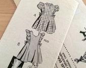Vintage Girls Dress Sewing Pattern - Los Angeles Examiner - Mail Order 9535 - Size 4