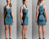 Printed jersey dress size S