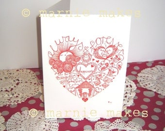 Heart of Happiness - blank card