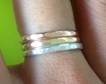 Thick Stackable Rings: THIS STACK COMBO