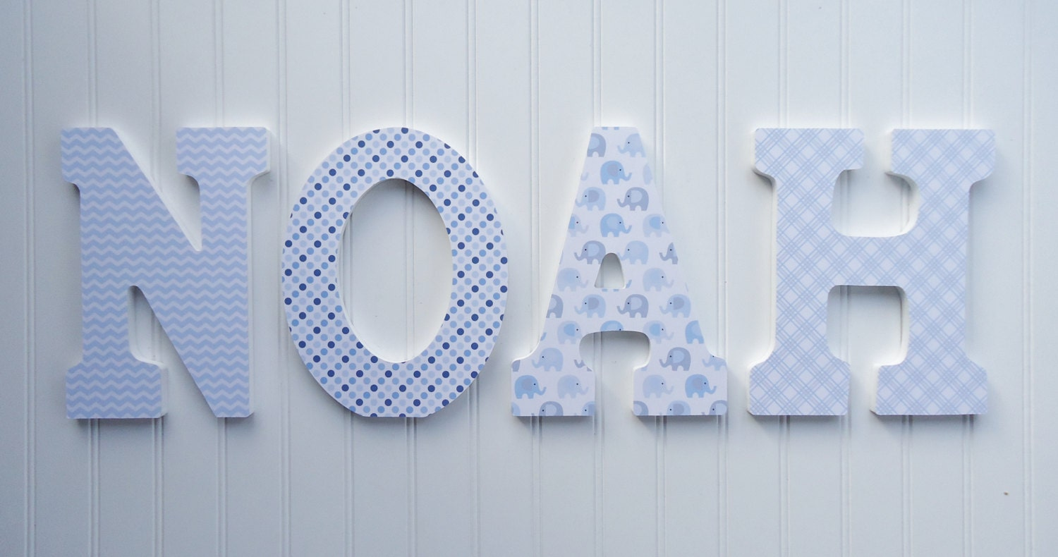 wall letters nursery wall decor wooden letters by fabbdesigns