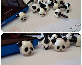 Anti-Dust Plug for cell phone Panda Strawberry and Love Cake 3.5mm