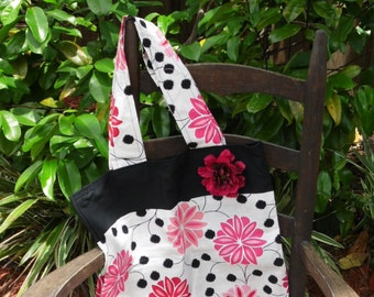 Beautiful Pink and Black Tote
