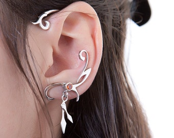 "Sterling silver ear cuff | Ear-cuff  ""Winter time"" 