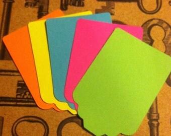 25 Neon Hang Tags / Gift Tags / Price Tags