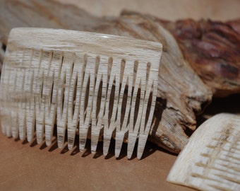Hair Comb and Chignon Pins French Alabaster Set, Vintage 70's, Handmade