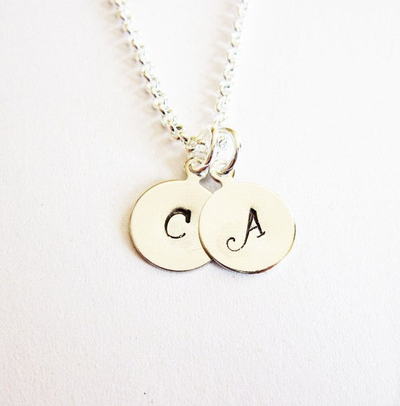 two initials necklace personalized necklace two letters With necklace with two letters