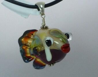 Glass Fish Pendant