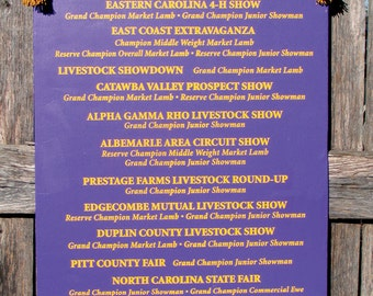 Year End Livestock Show Banners