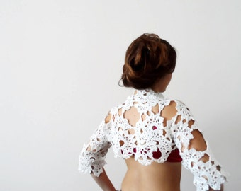 White Bolero, Attractive,Elegant,  Wedding shrug, Summer & Spring Fashion, shrug
