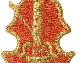 ID #9200 Violin Fiddle Bow & Strings Musical Instrument Iron On Applique Patch