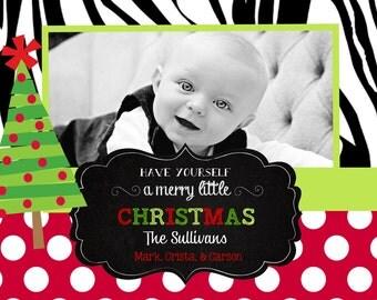 Christmas  Cards -chalkboard-zebra