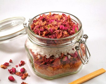 HIMALAYAN BATH SALTS - Rose / Lavender Chamomile / Peppermint - All Natural Aromatherapy 16oz