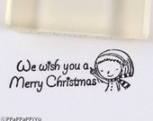 We wish you a merry christmas WC02 Rubber Stamp