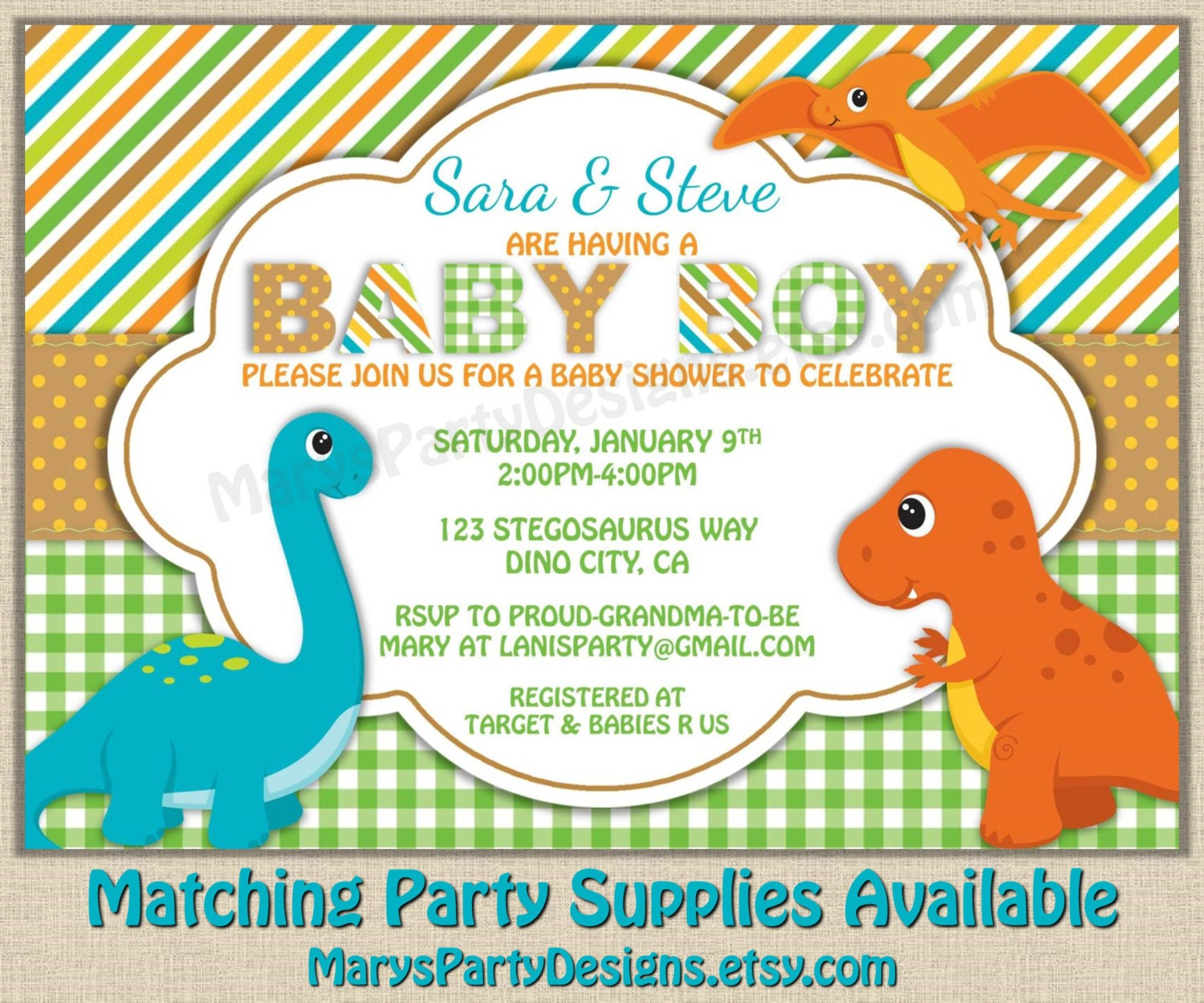 Co-Ed Baby Shower Invite for best invitation example