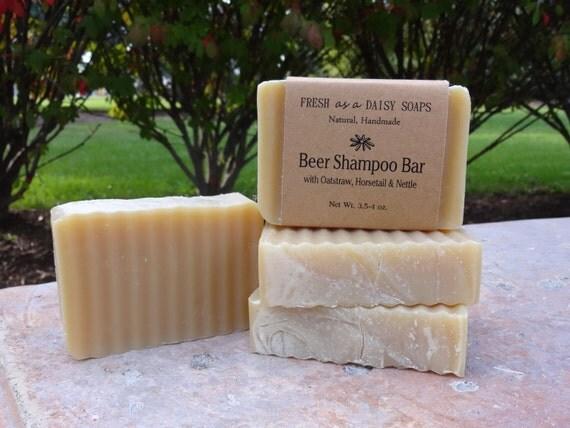 Beer Shampoo Bar with Oatstraw, Horsetail & Nettle - and Argan Oil, Natural Shampoo Bar