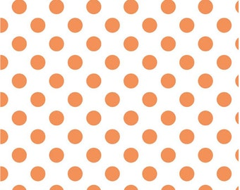 Medium Dots Orange by Riley Blake Designs Fat Quarter Cut - Dots Fabric