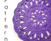 Crochet Pattern Pdf-  flower doily crochet rug