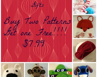 Buy Any Two Patterns and Get One Free