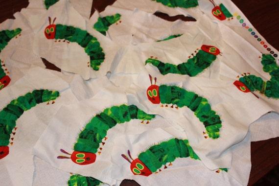 very hungry caterpillar scrap fabric birthday party, Baby shower invitations