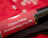 Come Hither, red, black, romantic, floral, orient inspired, asian inspired, Aromatherapy in a Jiffy, 10ml