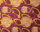 SALE Oxygen Intertwinning Shape in Dark Purple by Studio E -  1 Yard (STE1249DP)
