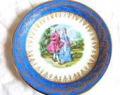 Vintage Limoges plate objet d'art Marcel Chaufriasse ateliers porcelain made in france shabby chic