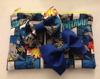 Comic book Batman Clutch and Bows, geeky accessory