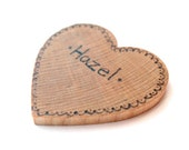 SALE Personalized Wooden Valentine - Wooden Teether Heart - Valentines Day - Baby Shower