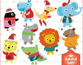 Christmas Baby Animals Clip Art ---- Personal and Small Commercial Use ---- BB 0727