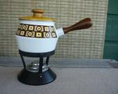 Vintage Fondue Set, Mid Century Fondue Pot, Retro Entertainment & Dining